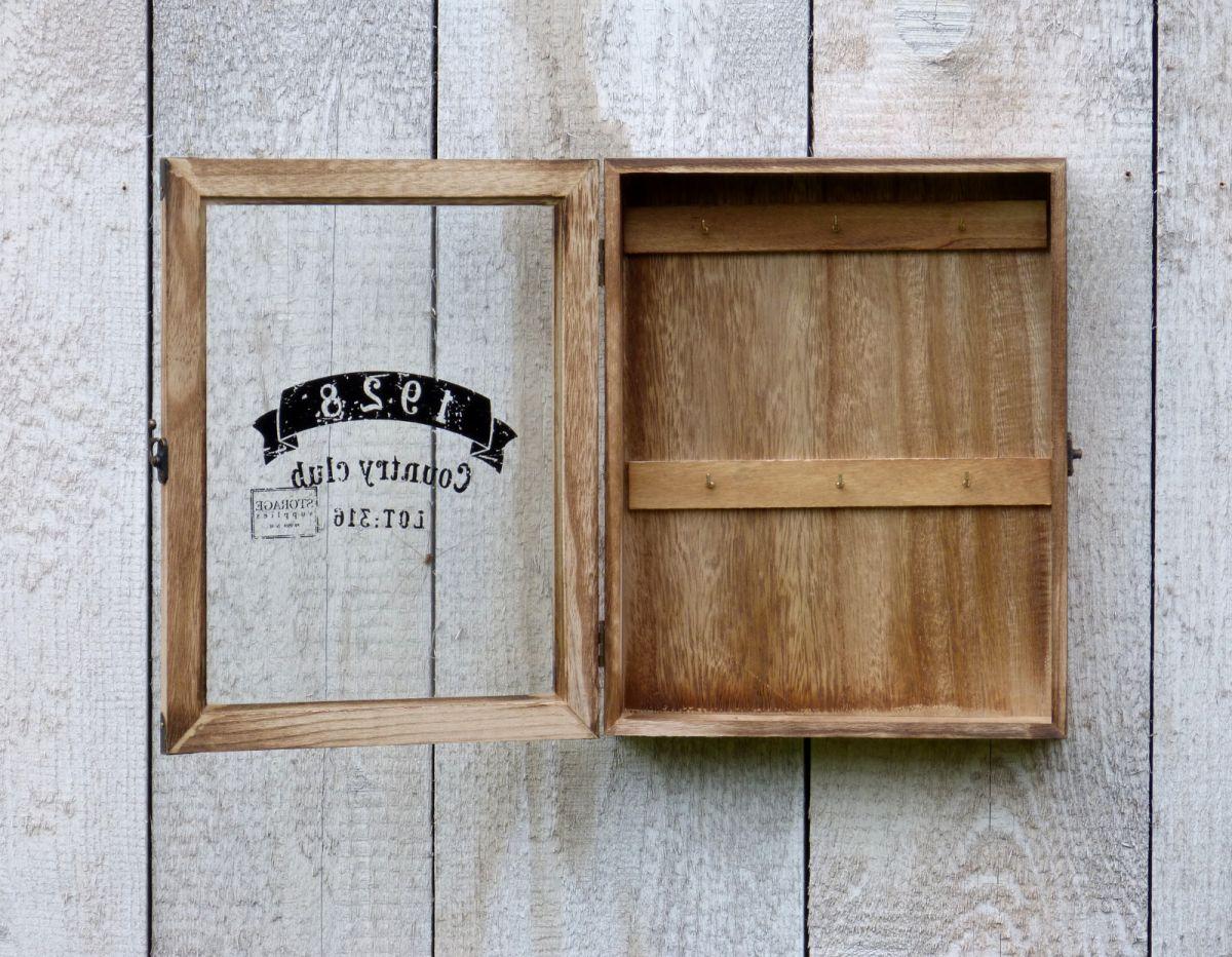 schl sselkasten1928 glast r holz vintage shabby chic landhaus braun more online. Black Bedroom Furniture Sets. Home Design Ideas