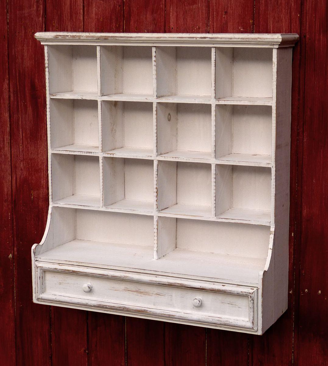 Hängeschrank Küchenschrank Küchenregal Shabby Chic Weiß 1 Schublade ...