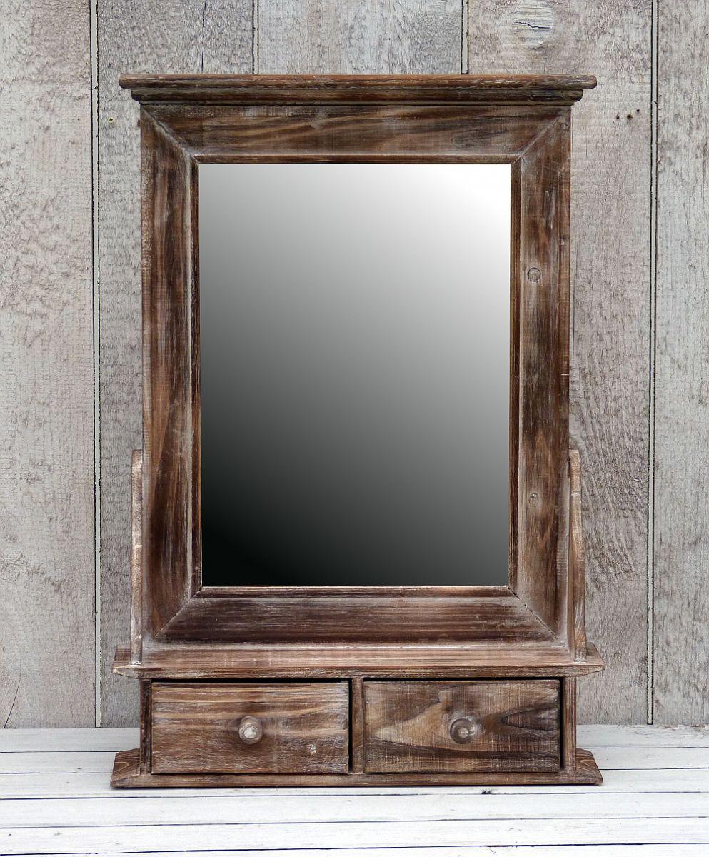 h ngeschrank badspiegel wandregal schubladen spiegel shabby chic braun more online. Black Bedroom Furniture Sets. Home Design Ideas