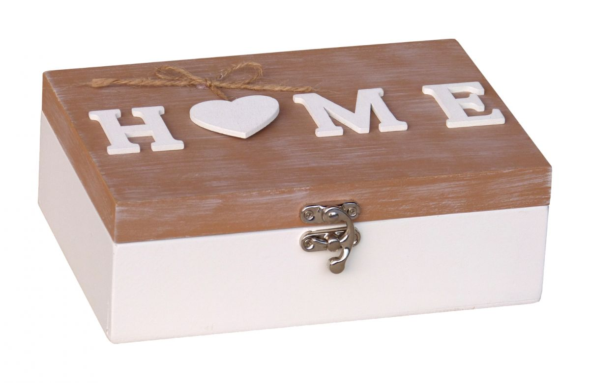 aufbewahrungsbox dose kiste box holz home schriftzug und herz landhaus vintage more. Black Bedroom Furniture Sets. Home Design Ideas