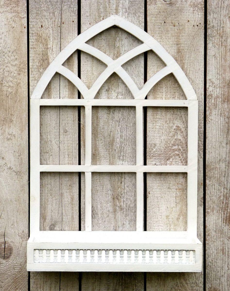 wundersch nes sprossenfenster zum bepflanzen oder dekorieren 75cm wei more. Black Bedroom Furniture Sets. Home Design Ideas
