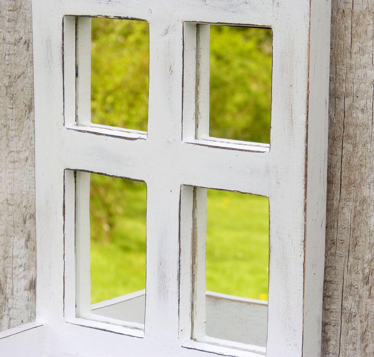 Spiegelfenster sprossenfenster spiegel pflanztopf pflanzkorb holz more online shop - Spiegel sprossenfenster ...