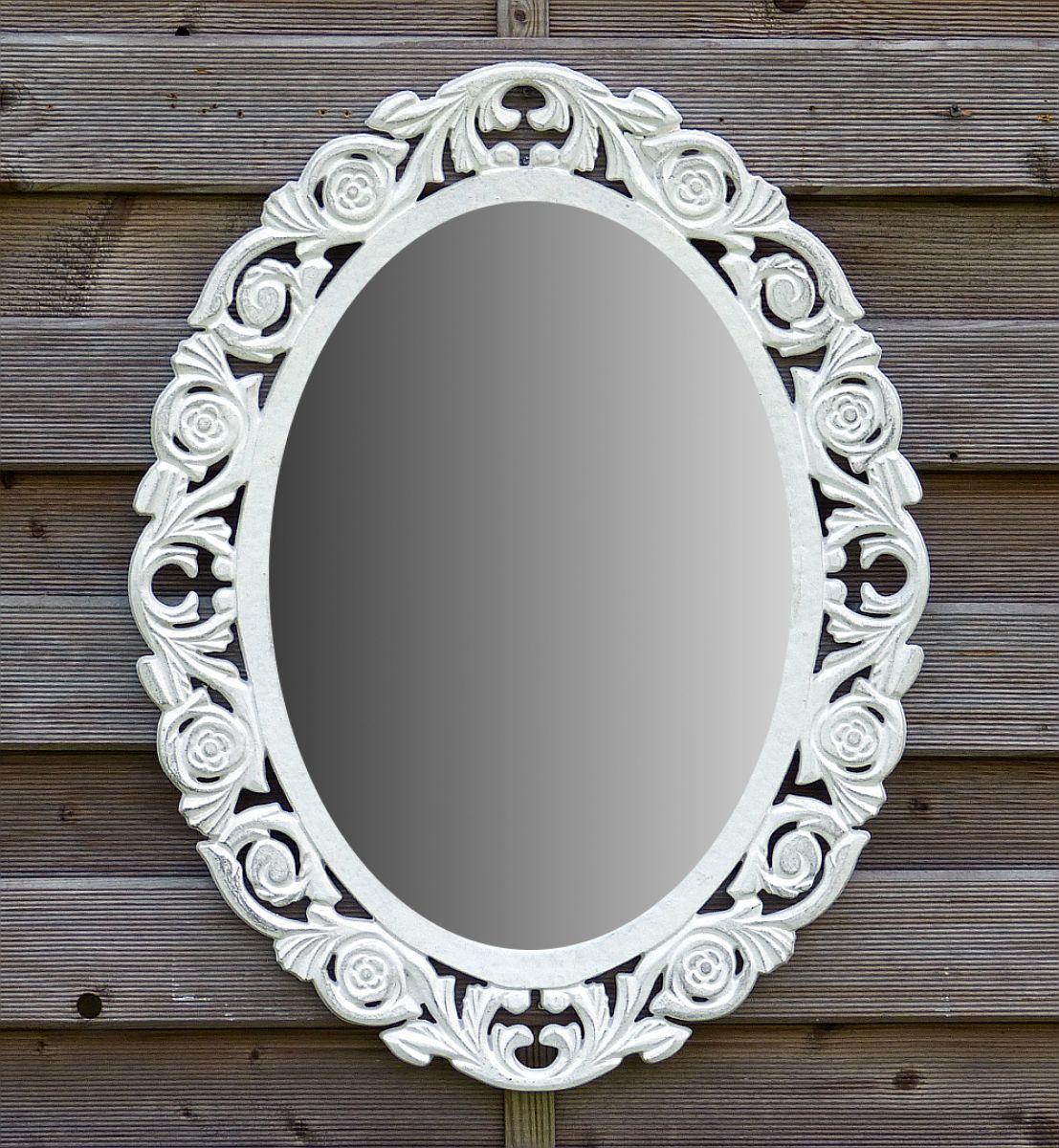 B-Ware Wandspiegel Spiegel Badspiegel Holz Oval Landhaus ...