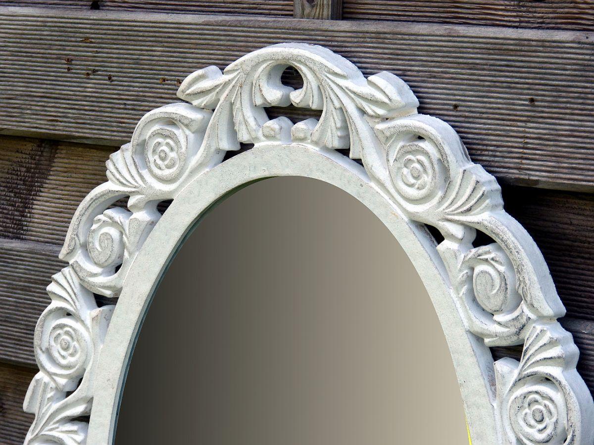b ware wandspiegel spiegel badspiegel holz oval landhaus. Black Bedroom Furniture Sets. Home Design Ideas