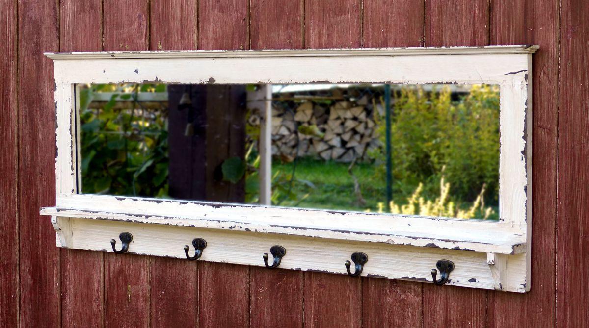 Aussergewöhnlich Schöne Wandgarderobe Mit Spiegel Und 5 Haken